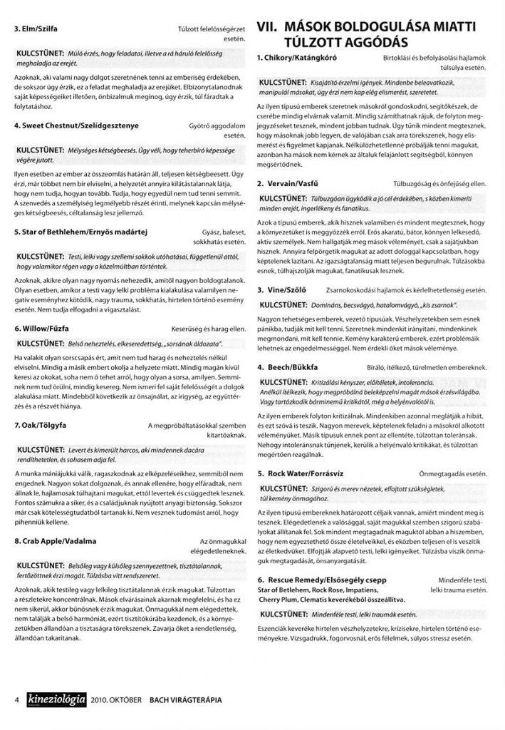 Kineziológia Magazin - Bach-virág cikk